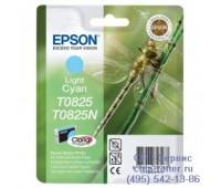 Картридж светло-голубой Epson T0825 оригинальный