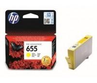 Картридж желтый струйный HP 655 оригинальный